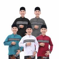 Baju Koko Anak Remaja motif Kombinasi Batik Dari Usia 11th - 14th