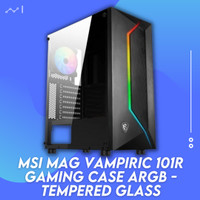 MSI MAG Vampiric 101R Gaming Case ARGB Tempered Glass
