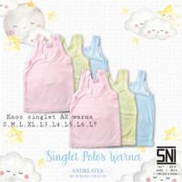 Kaos Singlet Kutung Baby Bayi Andreatex Boboko WARNA - SNI