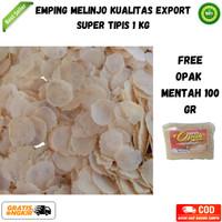 Emping Melinjo Mentah 1Kg Kualitas Export (Free Opak Mentah 100 Gr)