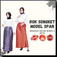 Rok Songket Palembang Model Standar Bermacam Motif & Warna