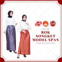 Rok Songket ATBM Palembang Model Biasa Bermacam Motif & Warna