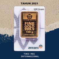 Logam Mulia LM Press New 100gr 100 Gram Batangan Emas ANTAM Sertifikat