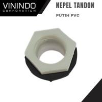 VERLOP RING TANDON PVC PUTIH/ NEPEL TANDON PVC PUTIH - 1 1/4 INCH
