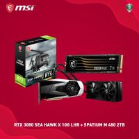 PAKET MSI RTX 3080 SEA HAWK X 10G LHR + SPATIUM M480 PCIe 4.0 NVMe 2TB