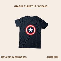 Baju Anak Rizigo Kids - Baju Anak Laki Captain America - Kaos Anak