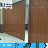 PVC folding door   sekat pintu plastik untuk penyekat ruangan