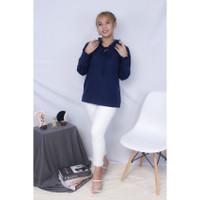 Aurelia blouse top wanita model lengan panjang bahan twiscone size L