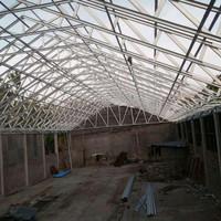 gudang atau pemasangan rangka baja ringan atap spandek/zincalume