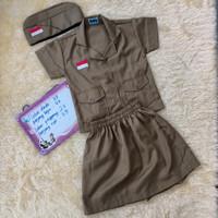 Baju karnaval agustusan/ baju pejuang anak perempuan