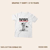 Kaos Anak Series NASA Rizigo Kids 2-10 Tahun - Kaos Anak Laki