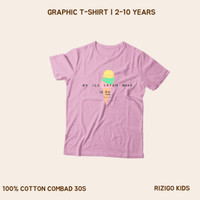 Baju Anak Perempuan Rizigo Kids Series Ice 2-10 Tahun - Kaos Anak