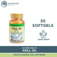 Natures Health Krill Oil Isi 30 Softgels - Sumber Omega 3 Terbaik