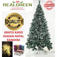 Pohon natal murah 150cm snow flake pine tree JD16877SN/5FT