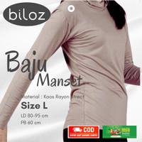 Manset Baju Kaos Rayon Super Premium Adem Dingin