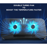 Cooling Pad Laptop Portable Aluminium 2 Fan Adjustable Speed 11-17Inch - Fixed Speed