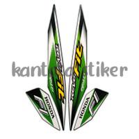 stiker striping motor honda revo fit fi 2020 full hitam-hijau