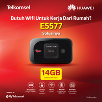 Modem Mi-fi 4G Huawei E5577 unclock all operator free T-sel 14gb