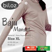 Manset Baju Ukuran XL Kaos Rayon Super Premium Adem Dingin