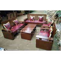 kursi sofa tamu minimalis kayu jati tua berkualitas asli Jepara 2211 s