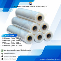 PLASTICS WRAPPING - STRETCH FILM (FOR HAND ROLL) uk 17 Micron 50 x 300