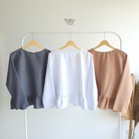 Baju Inner Lengan Panjang Long Sleeves Emikoawa- Atasan Daleman Manset - White