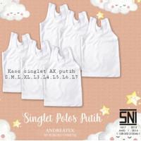 Kaos Singlet Kutung Baby Bayi Andreatex Boboko PLAIN - SNI
