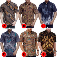 Kemeja Batik Pria Murah Lengan Pendek   Baju Batik Pria   Kemeja Pria