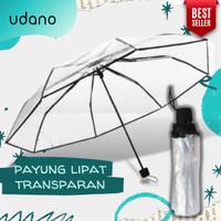 Payung Lipat Transparan UDANO Premium Quality Murah Bening Mini Korea