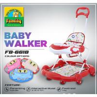 Baby Walker Family 661B / Baby Walker Anak / Etotikshop - Merah