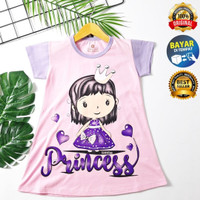 LITTLE PRINCESS - BAJU DASTER ANAK PEREMPUAN USIA 1 - 6 TAHUN - S, LITTLE PRINCESS
