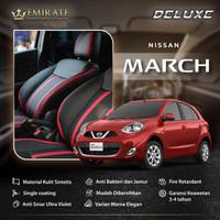Sarung / Cover Jok Mobil Kulit Sintetis Nissan March Fullset Interior