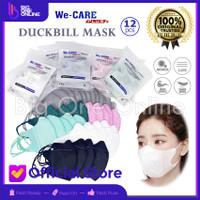 Masker Duckbill Putih Hitam Masker 3D 3 Ply Masker Dakbil Hitam 50 Pcs