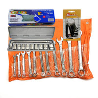 Tool Set Kunci Ring Pas Set 11 pcs + Kunci Sok 10 pcs + Kunci L 10 pcs