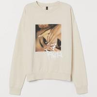 Crewneck Sweatshirt H&M hnm Ariana Grande 7 Rings Printed