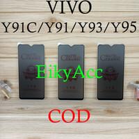Anti Gores Vivo Y91C Y91 Y93 Y95 Ceramic Matte Anti Spy Tempered Glass