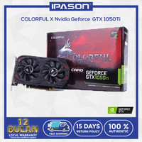IPASON Colorful GTX 1050Ti 4G GPU Games GDDR5 DVI HDMI DP Interface