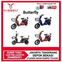 Sepeda Listrik UWinfly Butterfly Sepeda Aki Alt Fiido - Hitam