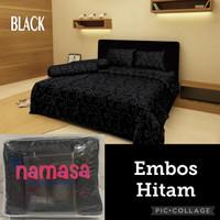 Namasa Badcover Set + Sprei Ukuran Queen Size 160x200x30