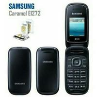 Samsung lipat flip Caramel GT-E1272 samsung hp murah Dual Sim - Merah