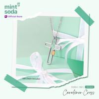 Mint Soda Korea - Kalung Salib Emas 18K - Carabiner Cross Necklace