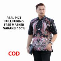 Kemeja Batik Pria Lengan Pendek Batik Aluna Premium BAK PD 005 - S