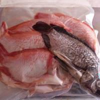 ikan nila merah segar vacum