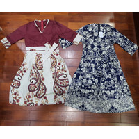 Baju Batik Dress Mini wanita   Minidress remaja modern kombinasi bunga
