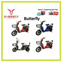 Uwinfly Sepeda Listrik Butterfly New Style Butterfly-2 BF Selis Bike - Hitam
