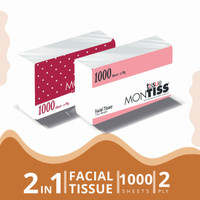Montiss Facial Tissue 1000 Sheets 2 in 1