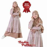 Gamis Anak Usia 7-9 Thn Baju Muslim Anak Perempuan Syari NADIA POLKA