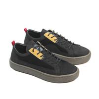 Sepatu Sneakers Kulit Pria Exodos57 Lampero Low Black Yellow