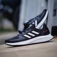 Sepatu Running Original ADIDAS RUN FALCON 2.0 BLACK WHITE
