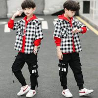 Setelan Kemeja Anak LakiLaki PREMIUM Hoodie Fashion - RED, 120 (6-7T)